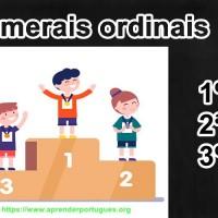 numerais ordinais
